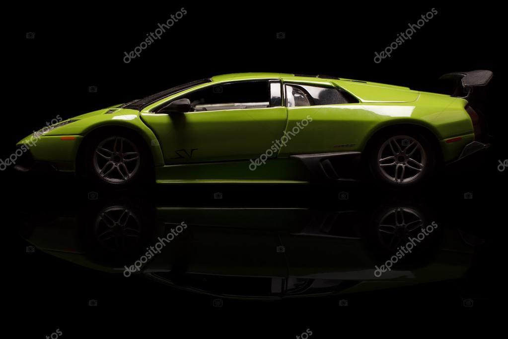 Krivoy Rog, Ucrânia   04 De Jan   Brinquedo Lamborghini Murcielago Em Fundo  Preto, Sábado, 4 De Janeiro De 2014 U2014 Foto De Baronvsp89