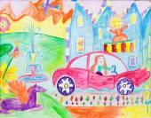 Pre-school childrens creativity car