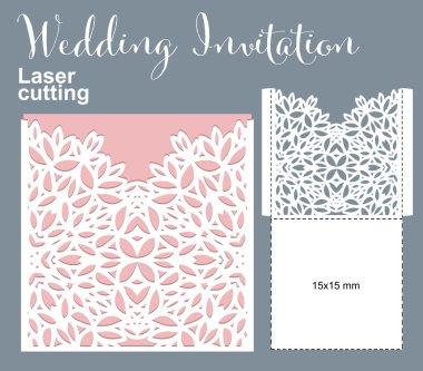 Vector die laser cut envelope template