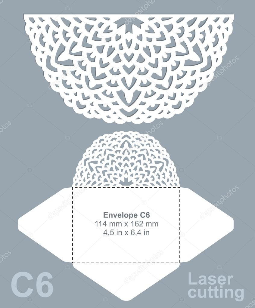 Troquelado de vector plantilla de sobres — Archivo Imágenes ...