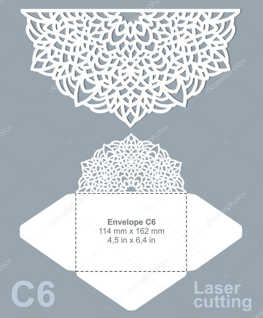 Vektor gestanzt Briefumschlag Vorlage — Stockvektor © migellito ...