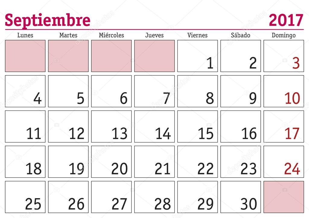 Calendario De Septiembre.Imagenes Calendario Del Mes De Septiembre Calendario De