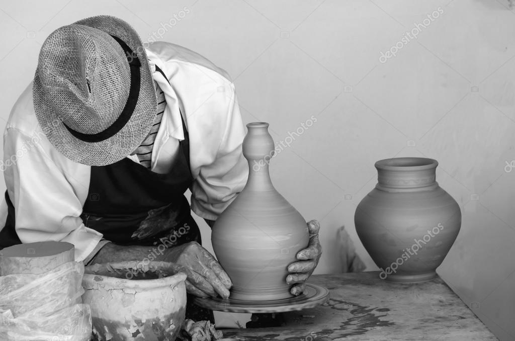 Potter Making A Clay Vase Stock Photo Alfonsodetomas 106241162