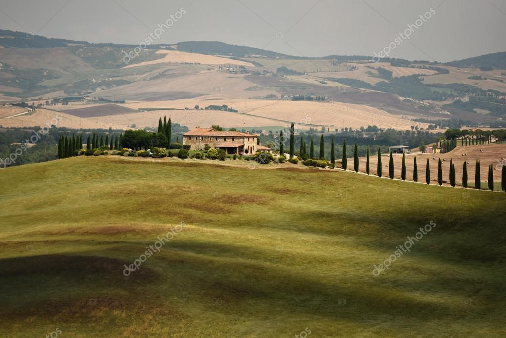 Typical Tuscan landscape in Summer