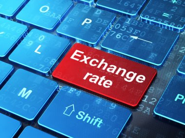 Currency concept: Exchange Rate on computer keyboard background