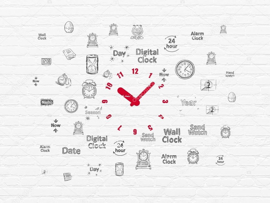 Time Concept Clock On Wall Background Stock Photo Maxkabakov 24hour Digital And Timer Circuit