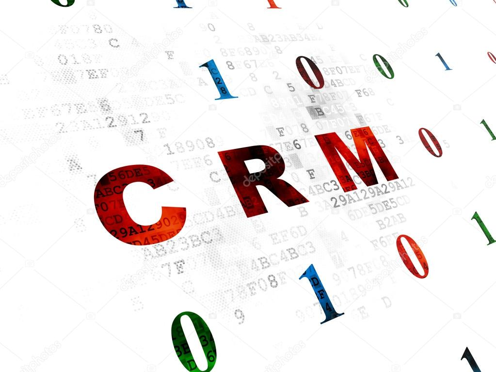 Business Concept Crm On Digital Background Stock Photo