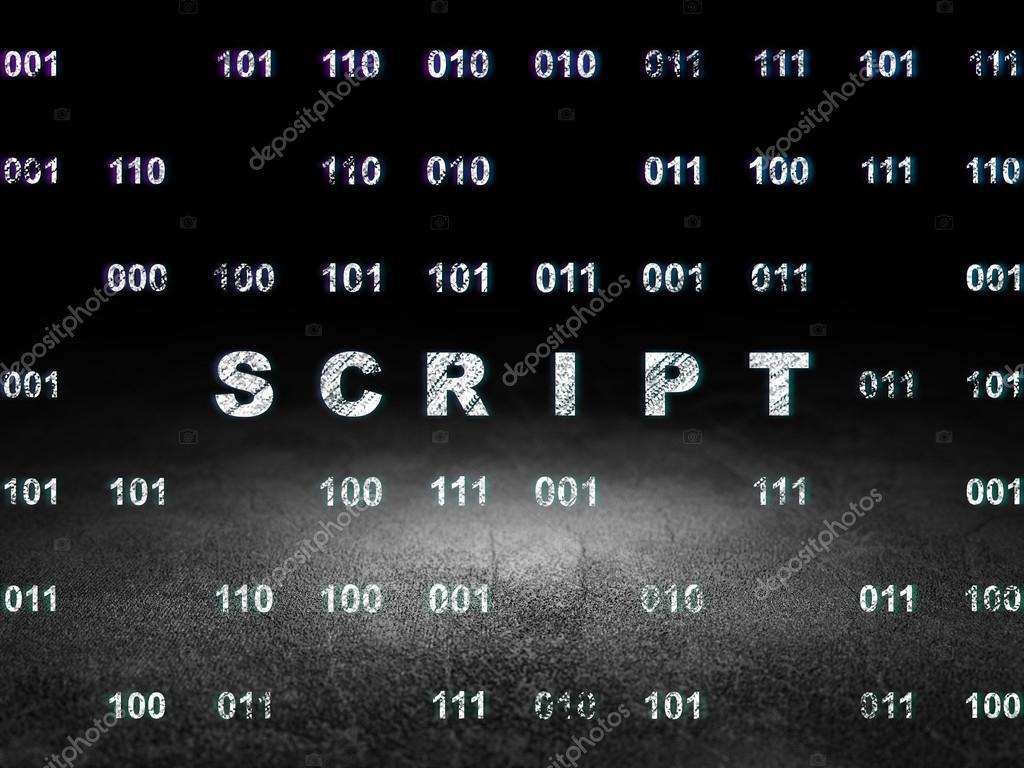 Concepto de programación: secuencia de comandos en cuarto oscuro de ...