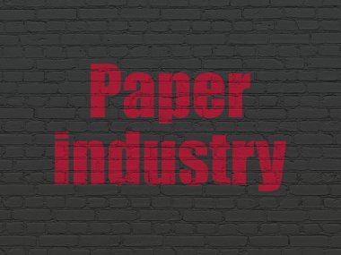 Industry concept: Paper Industry on wall background
