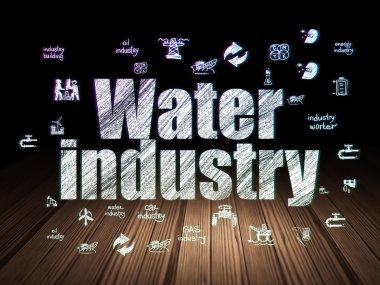 Industry concept: Water Industry in grunge dark room