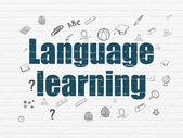 Fényképek Oktatási koncepció: nyelvtanulás, a háttér