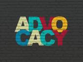 Fotografie Law concept: Advocacy on wall background