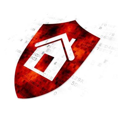 Finance concept: Shield on Digital background