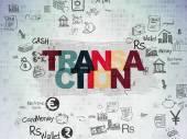 Money concept: Transaction on Digital Paper background