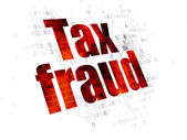 Fotografie Law concept: Tax Fraud on Digital background