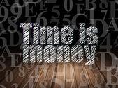 Pojem o čase: čas jsou peníze v temné místnosti grunge