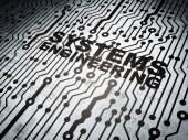 Fotografie Science-Konzept: Leiterplatte mit Systems Engineering