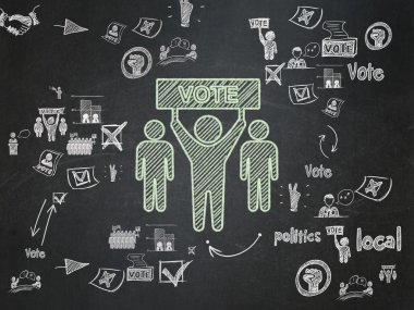 Political concept: Election Campaign on School Board background