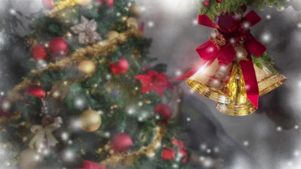 Weihnachten Schnee, Baum geschmücktes Fenster