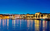 Photo Amazing Split waterfront evening panorama