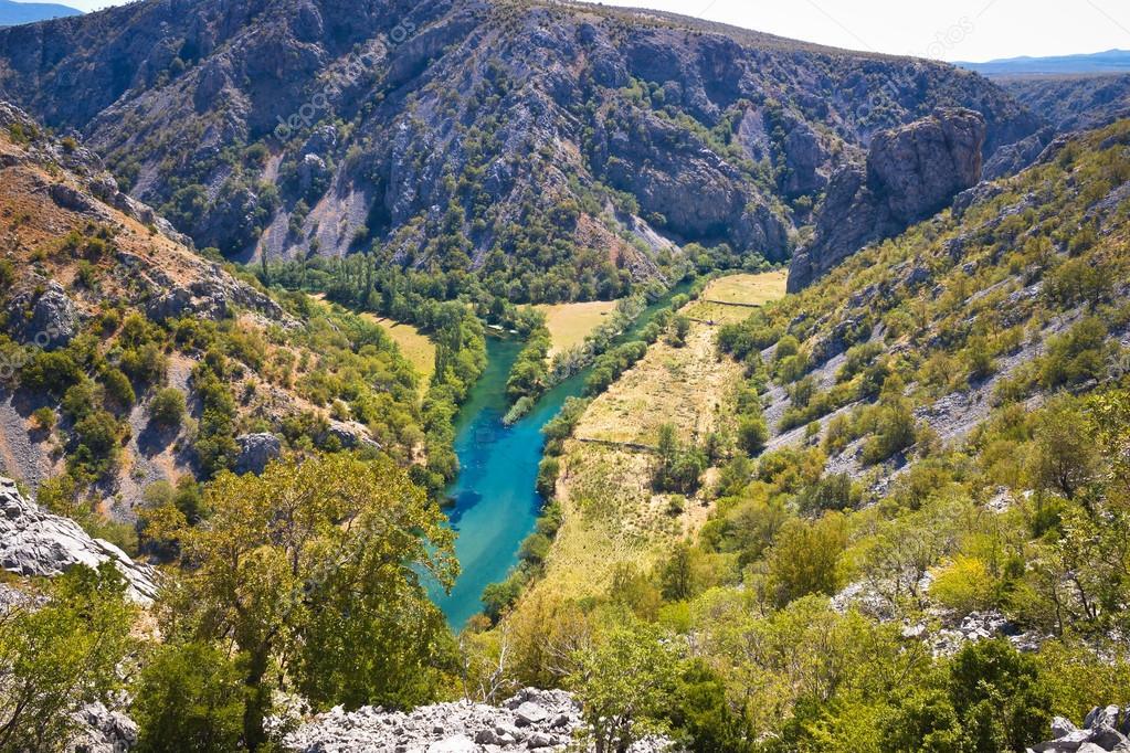 Wild landscape of Zrmanja and Krupa rivers canyon