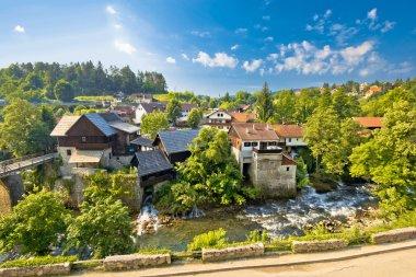 Rastoke village in green nature