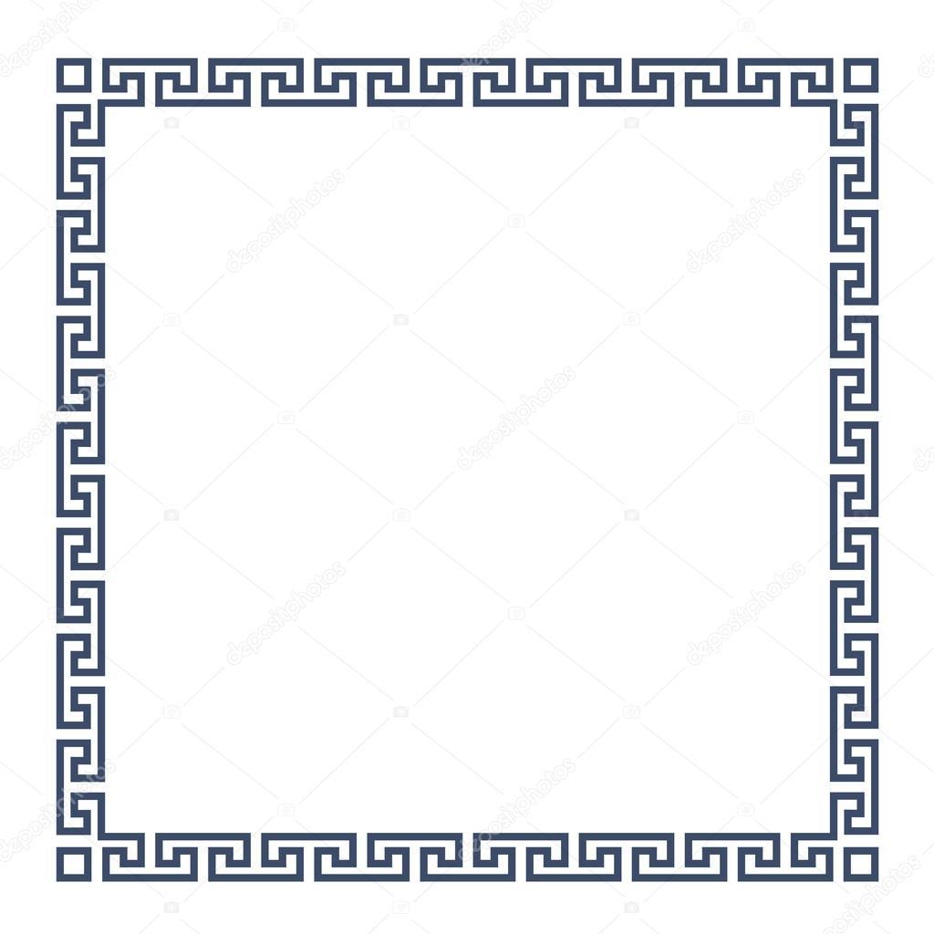 Square decorative greek frame for design stock vector square decorative greek frame for design stock vector jeuxipadfo Gallery