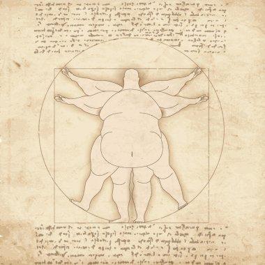 Conceptual modern Vetruvian man