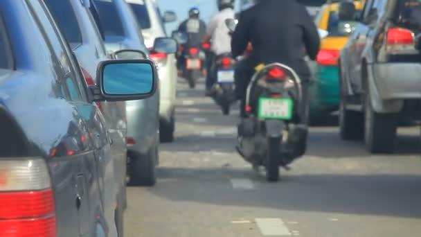 Rush hour bangkok Thajsko kapitálu dopravní zácpa