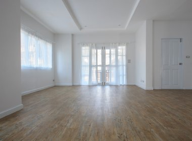 Empty living room in home