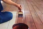 Ruční malba olej barva na dřevěné podlahy využití pro domácí zdobené, ho