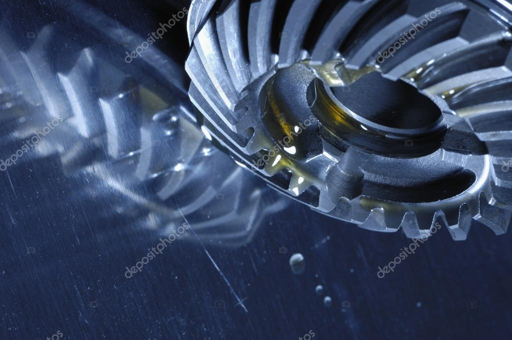 Gears and cogwheels, oil and fuel