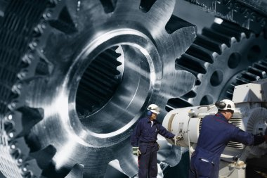 engineering and large cogwheels machinery