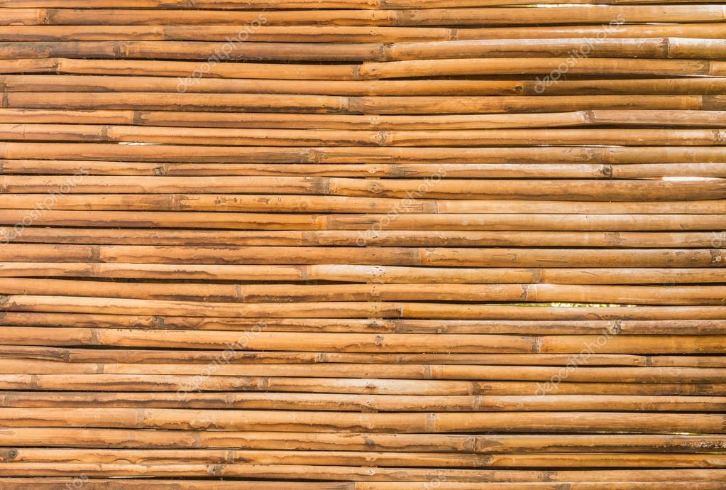 Bambus Holz Zaun Mauer Hintergrund Stockfoto C Wuttichok 97234842