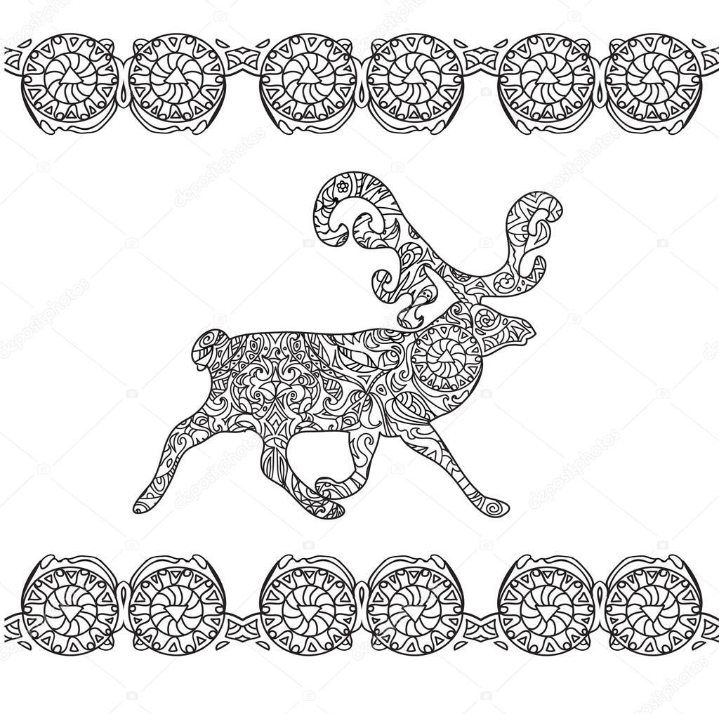 Página para colorear de ciervos — Fotos de Stock © Nuarevik #101790012