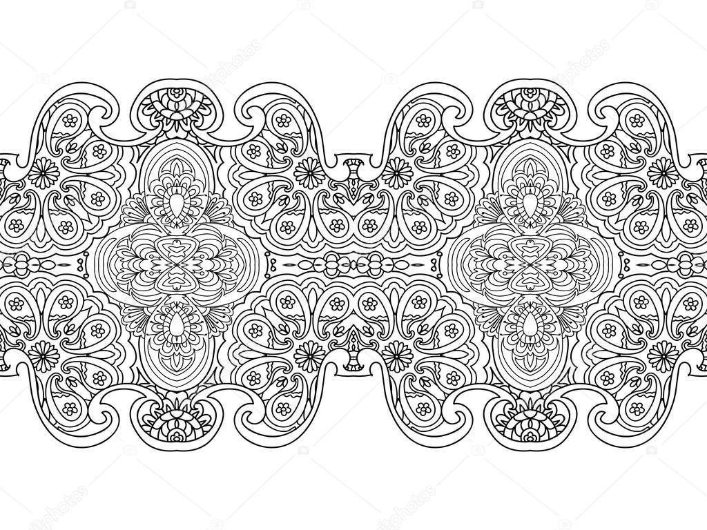 Frontera floral transparente Resumen página aislado en blanco para ...