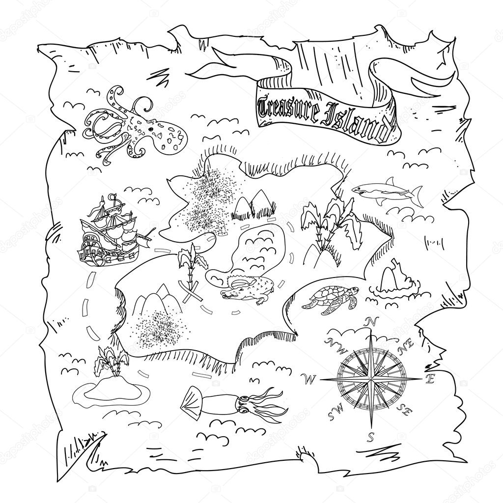 Mapa Isla Del Tesoro.Ninos De Mapa De La Isla Del Tesoro Para Colorear Pagina