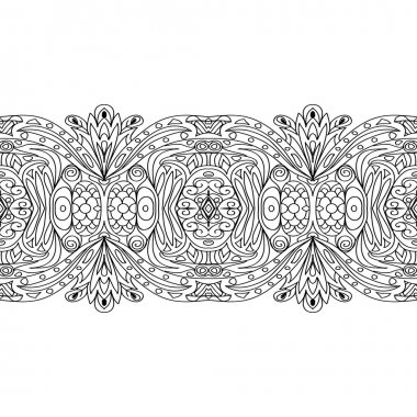 Seamless coloring page border on white