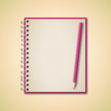 Pink color blank Notebook