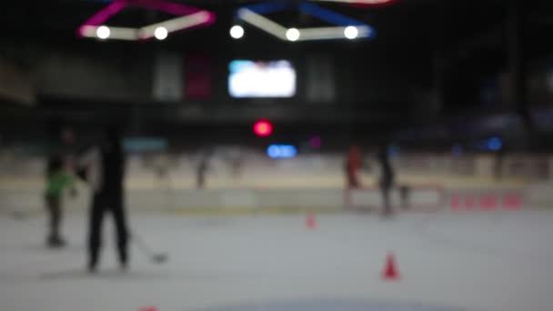 abstraktní rozostření pozadí hokejové hry s bokehem