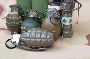 All explosives, weapon army,standard time fuze, hand grenade on