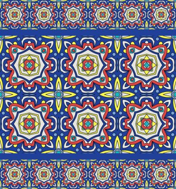 Bright traditional Talavera ornament