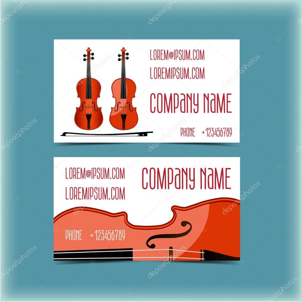 Carte De Visite Pour Un Musicien Violoniste Illustration Stock