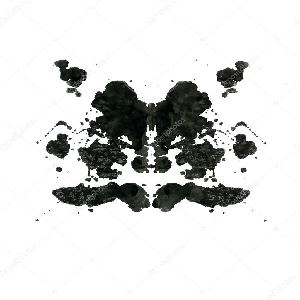 test de la tache d 39 encre rorschach image vectorielle belopoppa 60666093. Black Bedroom Furniture Sets. Home Design Ideas