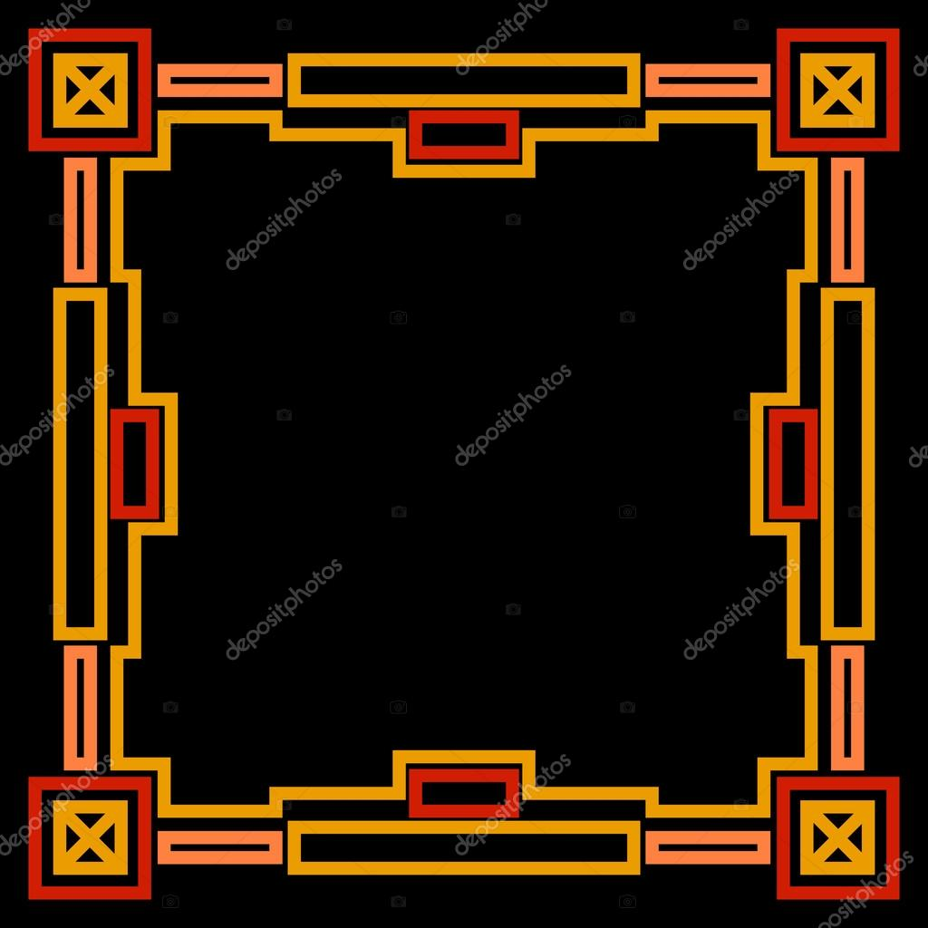 Frame with gold geometric