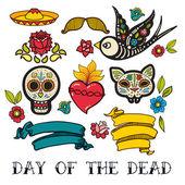 Fotografie Ikonen des Tages der Toten Aufkleber