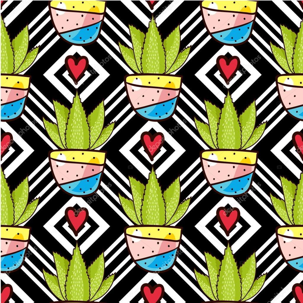 Trend of cactus patterns