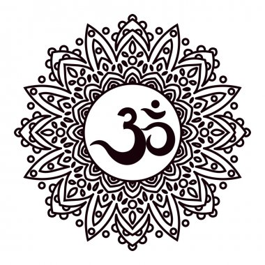 Om or Aum Indian sacred sound