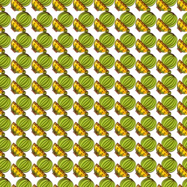 Seamless pattern of cacti