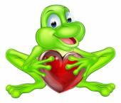 Fotografia Concetto del cuore di rana